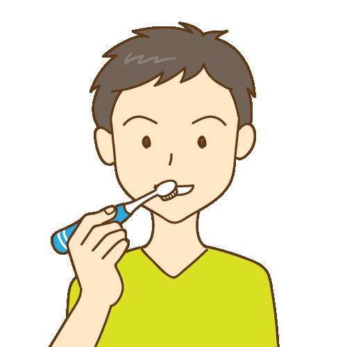 歯磨きをしている男性