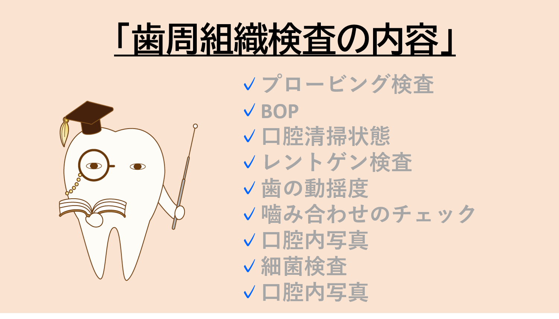 歯周組織検査の内容