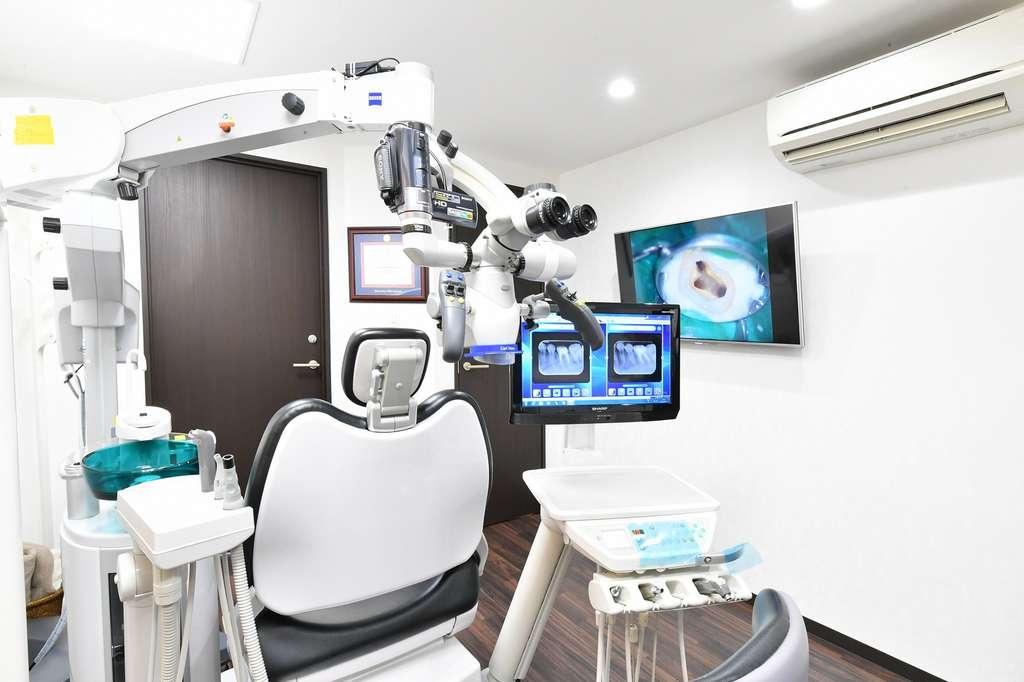 マイクロエンド歯科の治療チェア